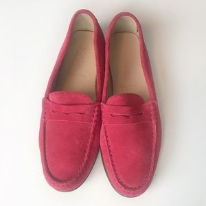 J. Crew Women's Made in Italy Pink Suede Loafers